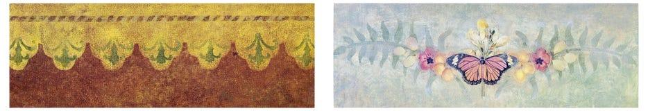 墙纸纹理软的设计拼贴画 免版税库存照片