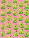 墙纸逗人喜爱的青蛙 免版税库存照片