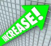 增加上升改善的词绿色箭头更多结果 向量例证