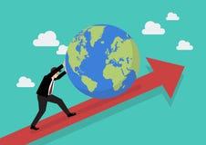 增加在图表的商人世界 图库摄影