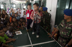 增加新的边境口岸的印度尼西亚军事 图库摄影