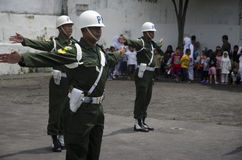 增加新的边境口岸的印度尼西亚军事 免版税库存图片