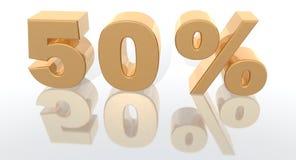 增加百分比 免版税库存照片