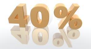 增加百分比 免版税库存图片