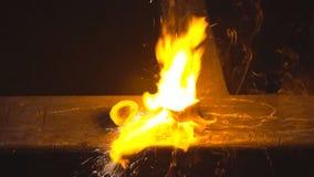 增加的氧气燃烧 股票录像