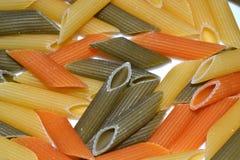 增加蔬菜的意大利面食 库存照片