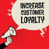 增加顾客忠诚企业概念 皇族释放例证