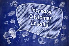 增加顾客忠诚-企业概念 向量例证