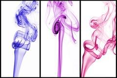 增加颜色到烟 免版税库存照片