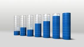 增加经济图表 3D圈子长条图2 皇族释放例证