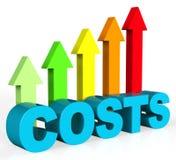 增加费用展示财务费用额并且上升 向量例证