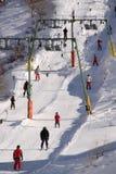 增强一滑雪 免版税库存照片