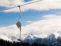 增强可操作的滑雪 免版税库存图片