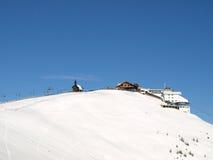增强多雪山的滑雪 库存照片