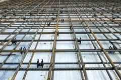增强混凝土板的滤网 免版税库存照片