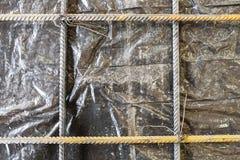 增强混凝土板的滤网 免版税库存图片
