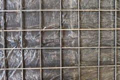 增强混凝土板的滤网 库存图片