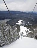 增强滑雪倾斜视图 免版税库存图片