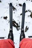 增强滑雪视图 库存图片