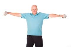 增强的人更旧的高级重量 免版税图库摄影