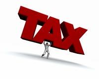 增强的人税字 向量例证
