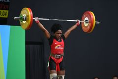 增强的人肌肉向量重量 图库摄影