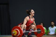 增强的人肌肉向量重量 库存图片