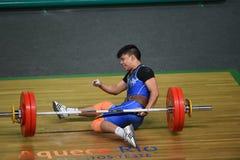 增强的人肌肉向量重量 库存照片