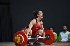 增强的人肌肉向量重量 免版税库存图片