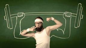 增强的人重量年轻人 免版税库存照片