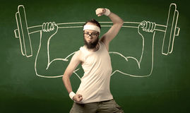 增强的人重量年轻人 免版税库存图片