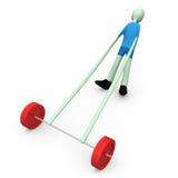 增强的体育运动重量 免版税库存图片