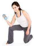 增强的重量妇女年轻人 免版税库存照片
