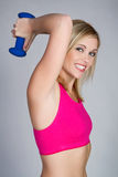 增强的重量妇女 库存照片