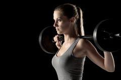 增强的重量妇女 免版税库存图片