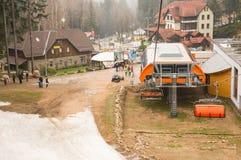 增强滑雪 免版税库存照片
