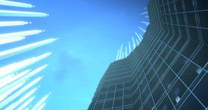增进和生长timelapse 4k 8k UHD的摩天大楼 库存例证