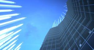 增进和生长timelapse 4k 8k UHD的摩天大楼 向量例证