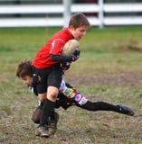 增进橄榄球比赛青年时期 库存图片