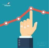 增长的企业图表 免版税库存照片