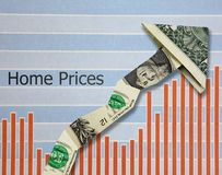 增长的住房价格 免版税库存照片
