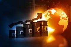 增长的油价 免版税库存照片