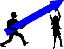 增长的箭头 免版税库存图片