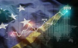 增长的统计财政2019年反对所罗门群岛旗子 皇族释放例证