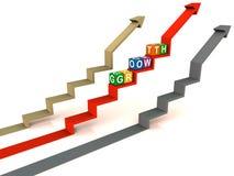 增长索引上升 向量例证