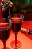 墨尔乐红葡萄酒酒 库存照片
