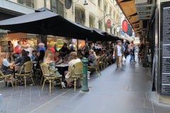 墨尔本咖啡馆餐馆澳大利亚 免版税图库摄影