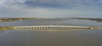 墨尔本堤道在佛罗里达 图库摄影