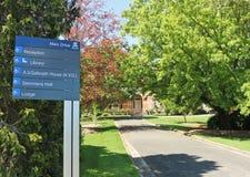 墨尔本大学的Creswick校园,以前学校林业,在1980年成为了一部分的大学 库存照片