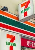墨尔本澳大利亚- 2015年10月17日:7-Eleven商标 7-Eleven 库存图片